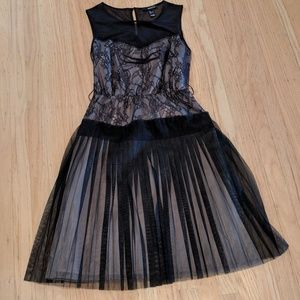 Mango Black Lace Dress